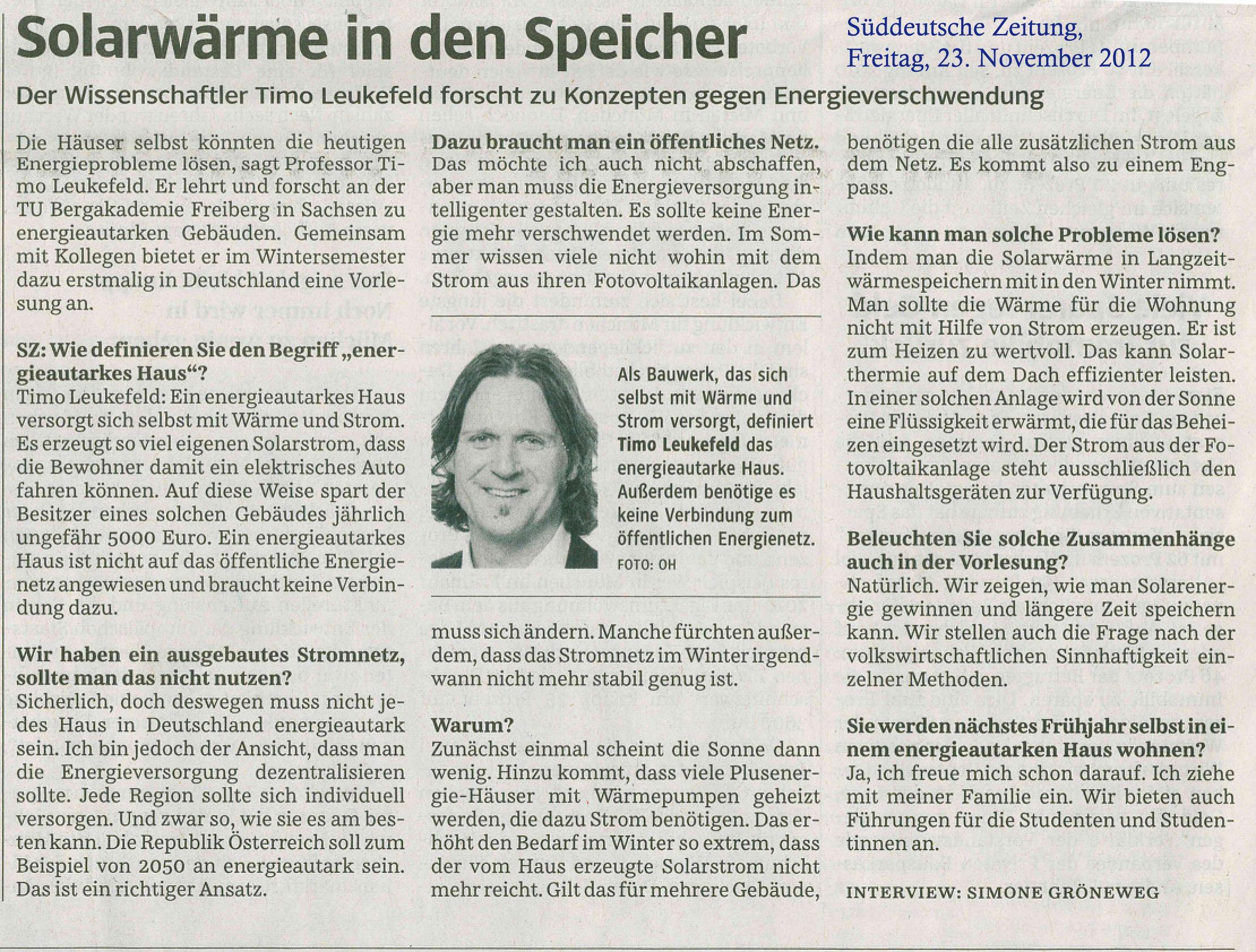 Süddt.Zeitung 3.11.2012