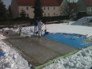 vom Schnee befreit